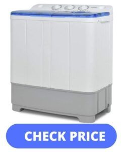 KUPPET 21lbs Compact Twin Tub Washer - best portable washer and dryer combo