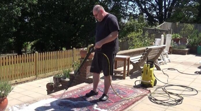 Clean Area Rug With Pressure Washer